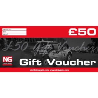 £50 - Nicky Grist Gift Voucher