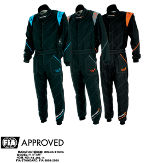 Turn One V-Start Race Suit - Black/Orange