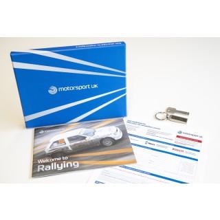 """Motorsport UK """"Go Rallying"""" Starter BARS Licence Pack (2021)"""