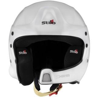 Stilo WRC DES - White/Black Composite Rally Helmet