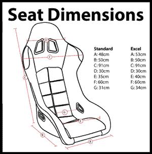 Corbeau Seat Size Guide
