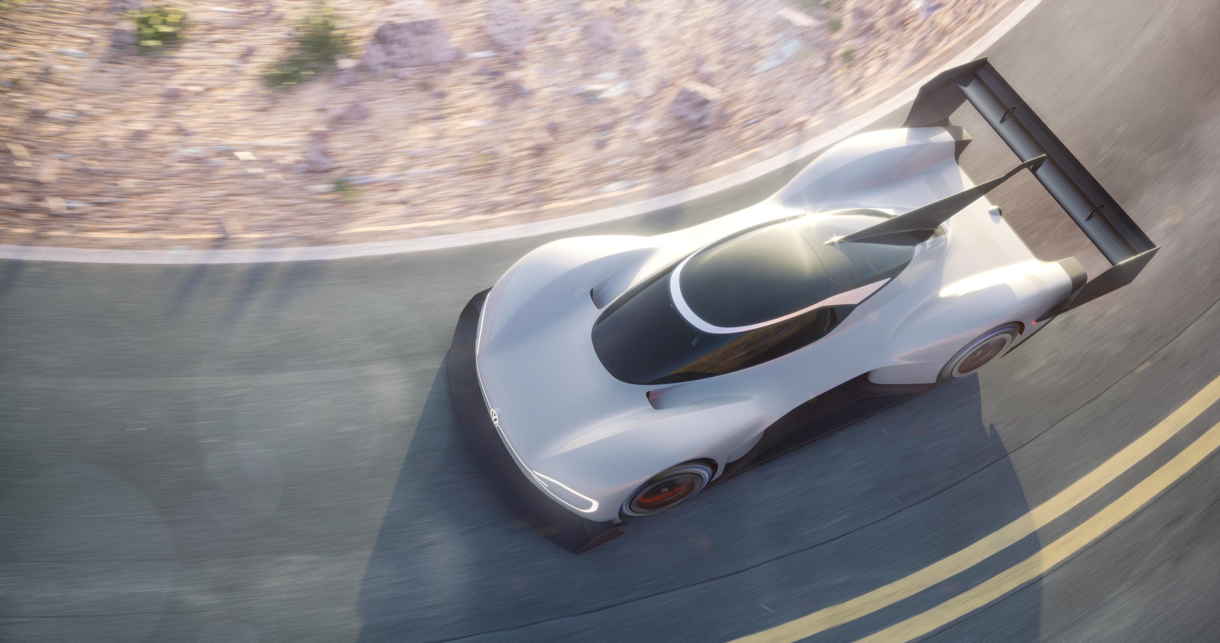 Volkswagen displays its futuristic I.D. at Pikes Peak