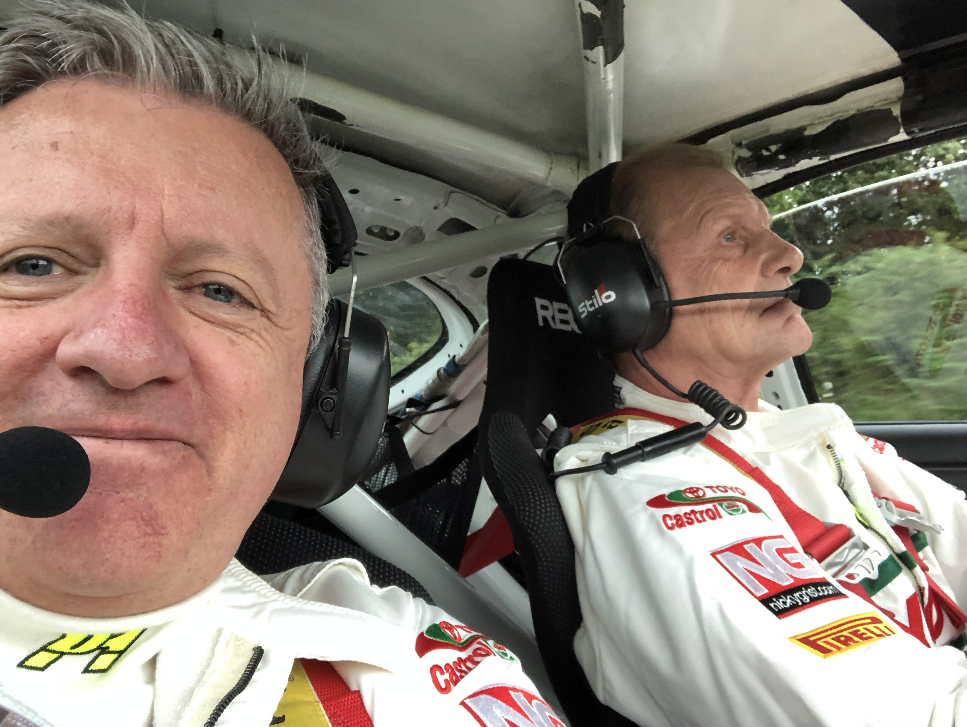 Great to be back with Juha in the Celica ST185
