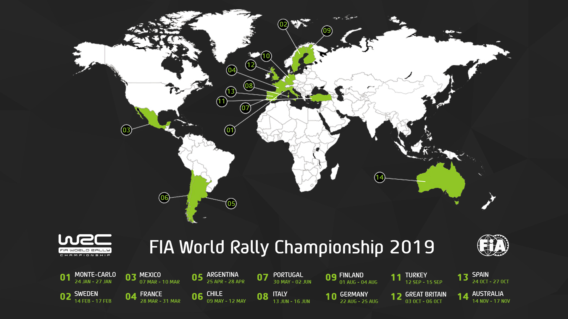 Chile joins expanded 2019 WRC calendar