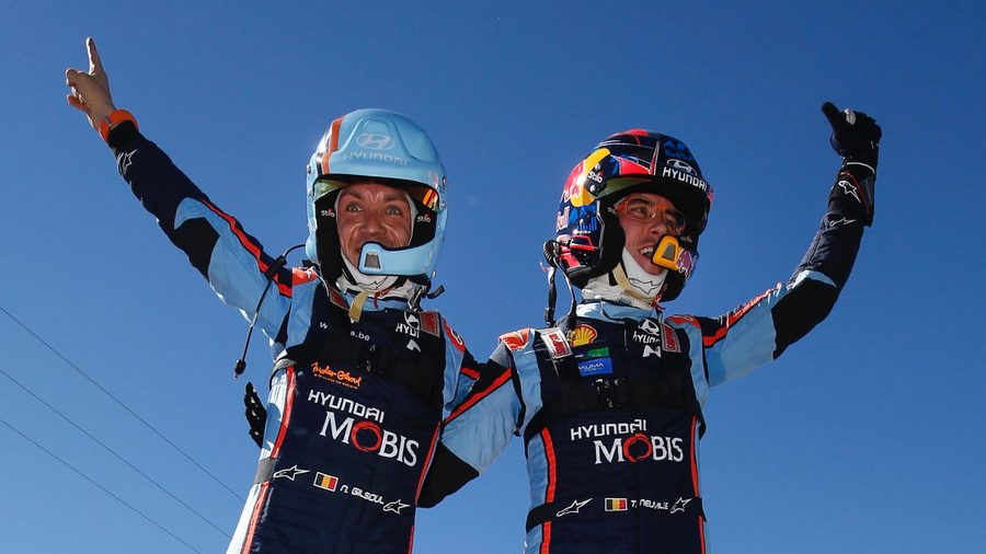 Neuville, Gilsoul and Hyundai lead WRC standings
