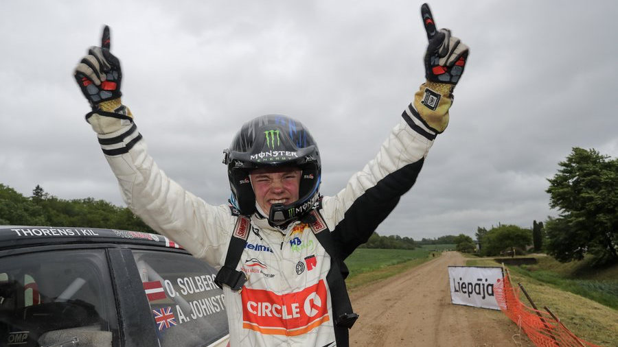 Young Solberg makes ERC history